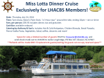 Miss Lotta Dinner Cruise Exclusively for LHACBS