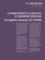 Cambiamenti climatici e risorse idriche. Il progetto europeo CC-WARE