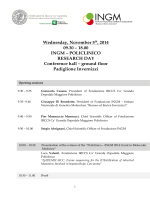 POLICLINICO RESEARCH DAY Conference hall – ground