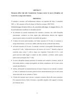 ABSTRACT Denuncia della Cgil alla Commissione Europea contro