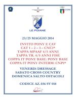 23/25 MAGGIO 2014 INVITO PONY E CAV CAT 1 – 2 – 3 – CNC1