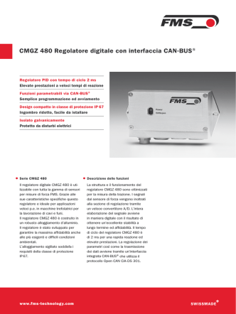 CMGZ 480 Regolatore digitale con interfaccia CAN-BUS®