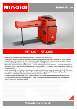 Scheda tecnica intestatrice INT 32S - INT 32AS