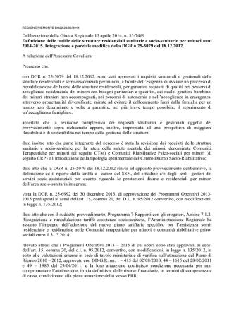 D.G.R. 14 aprile 2014 n. 55-7469