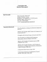 Curriculum vitae Daniela Mastrangelo