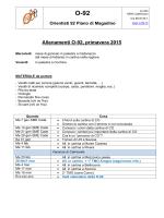 Info allenamenti 2015 - O