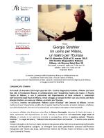 Giorgio Strehler - Dipartimento di Beni culturali e ambientali