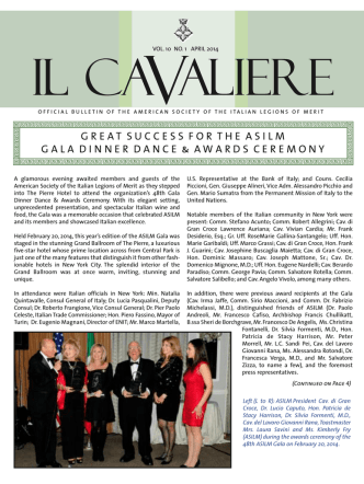 Cavallieri Spring 2011 - ASILM - American Society of the Italian