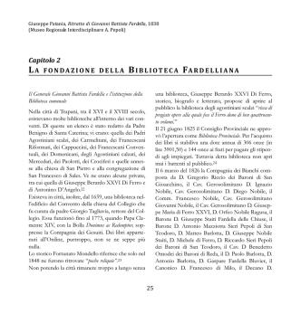 Cap. II La fondazione della Biblioteca Fardelliana 1