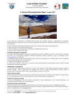"""I° Corso di Escursionismo Base """"modulo E1"""""""