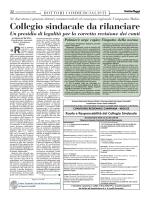 Collegio sindacale da rilanciare - Unione Nazionale Giovani Dottori