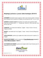Riepilogo partenze e promo dalla Sardegna 2014/15