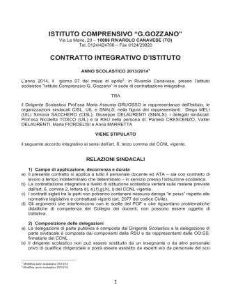CCI 2013-14 - Istituto Comprensivo di Rivarolo