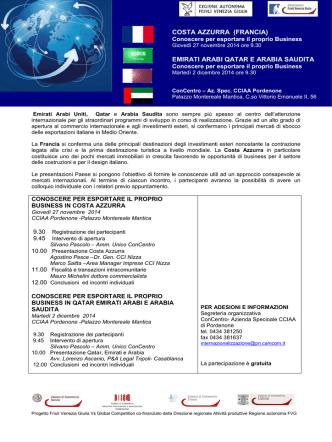 Country presentation Costa Azzurra e Paesi del Golfo
