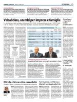 Valsabbina, un mld per imprese e famiglie
