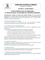 avviso pubblico - Comune di Boville Ernica