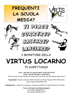 Inizio att. SM - Virtus Locarno