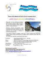 Terme di Val Masino da Sa 22 a Do 23 novembre 2014