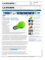 "Smart cities, car sharing ecoquartieri: ""green attack"""