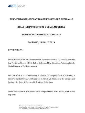 ANCE Sicilia-2014_07_01-RESOCONTO DELLINCONTRO CON