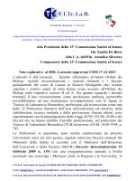 note esplicative decreto lorenzin - Fitelab Federazione Italiana