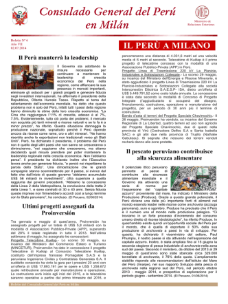 Boletín, junio 2014 - Ministerio de Relaciones Exteriores