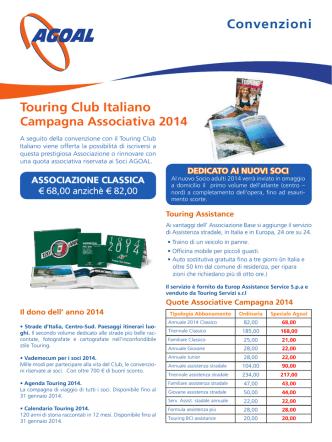 Convenzioni Touring Club Italiano Campagna Associativa