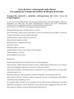 """Storia e storiografia della musica - Conservatorio di Musica """"Luca"""