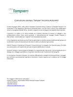 Comunicato stampa: Tampieri incontra ActionAid