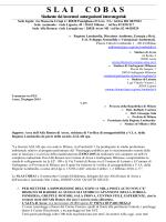 Il documento - SLAI Cobas