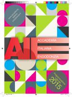 Programmazione Culturale 2015 - Accademia Italiana Endodonzia