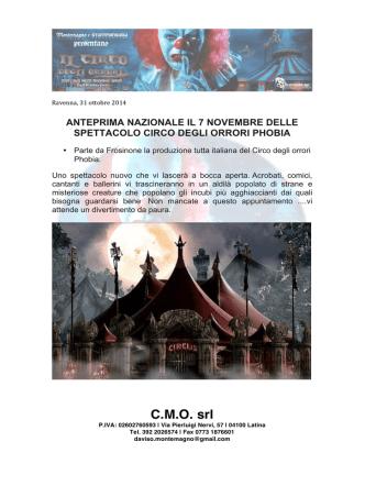 C.M.O. srl - Il Circo Degli Orrori Phobia