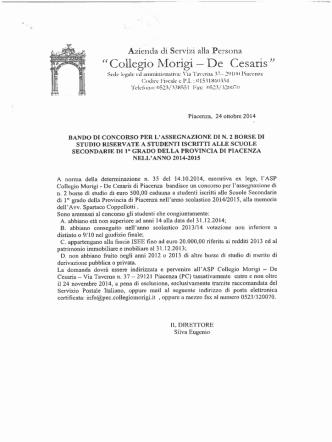 Collegio Mor1g1 - De Cesar1s - Istituto Comprensivo Statale di
