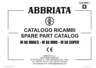 CATALOGO RICAMBI SPARE PART CATALOG