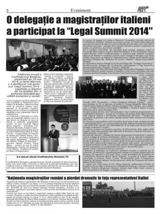 """5O delegaţie a magistraţilor italieni a participat la """"Legal Summit 2014"""