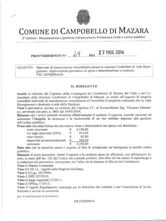 COMUNE DI CAMPOBELLO DI MAZARA