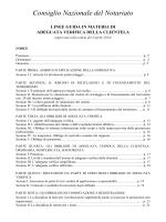 Consiglio Nazionale del Notariato - Linee guida in materia
