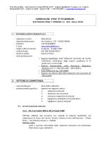 CURRICULUM VITAE ET STUDIORUM (curriculum vitae