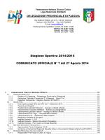 Comunicato n. 7 - Calcio Rubano USDC