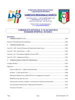 COMUNICATO UFFICIALE N. 45 del 22/01/2014
