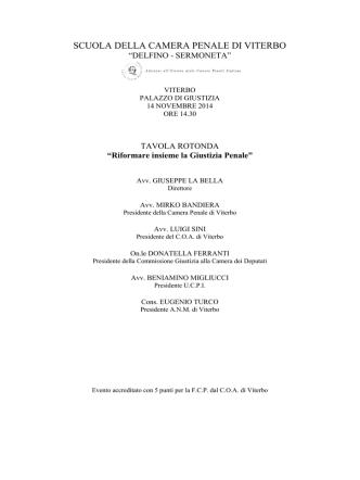 CP Viterbo - Unione delle Camere Penali Italiane