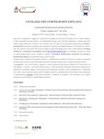 programma e scheda di partecipazione