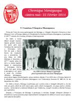 Chronique Monégasque - Comité National des Traditions