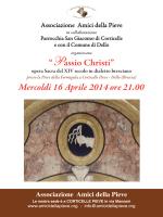 """""""Passio Christi"""" Mercoldì 16 Aprile 2014 ore 21.00"""