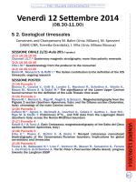Programma sessioni scientifiche Venerdi 12