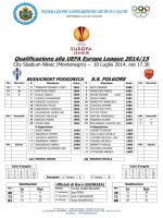 Match Sheet Buducnost Podgorica – S.S. Folgore del 10