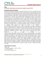 Risultati della Ricerca Protocollo di tipizzazione di lattococchi
