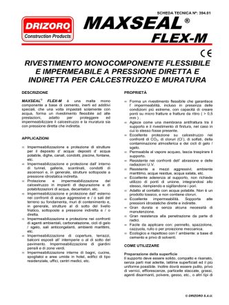39402 MAXSEAL FLEX M ITAx