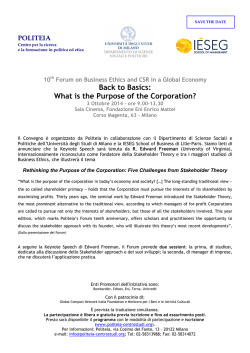 10th Forum on Business Ethics and CSR in a Global Economy