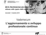 Vademecum Formazione - Fondazione Architetti Firenze